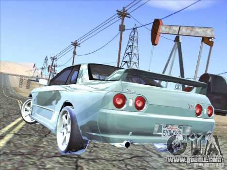 Nissan Skyline GT-R 32 1993 for GTA San Andreas inner view