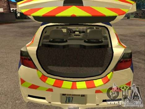 Opel Astra 2007 Police for GTA San Andreas back view