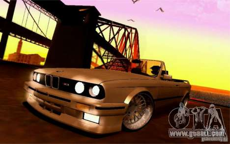 BMW E30 M3 Cabrio for GTA San Andreas inner view