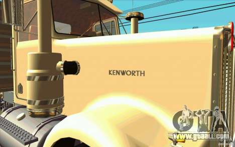 Kenworth W900 Heavy Hauler 1974 for GTA San Andreas back view