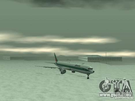 Boeing 767-300 Alitalia for GTA San Andreas back left view