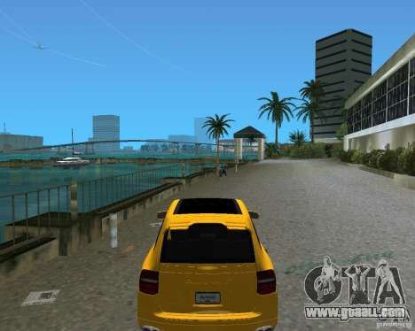 2009 Porsche Cayenne Turbo for GTA Vice City back left view