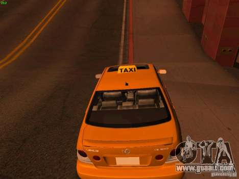 Lexus IS300 Taxi for GTA San Andreas back left view