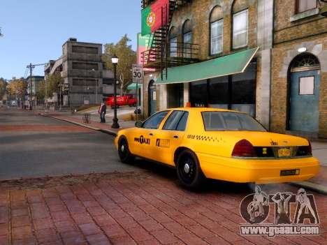 Ford Crown Victoria NYC Taxi 2013 for GTA 4 left view