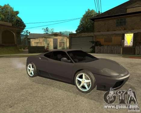 Ferrari 360 modena TUNEABLE for GTA San Andreas right view