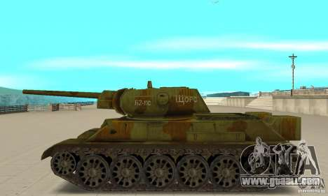 Tank T-34/76 for GTA San Andreas left view