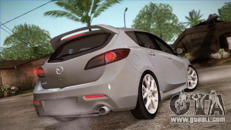 Mazda Mazdaspeed3 2010 for GTA San Andreas bottom view