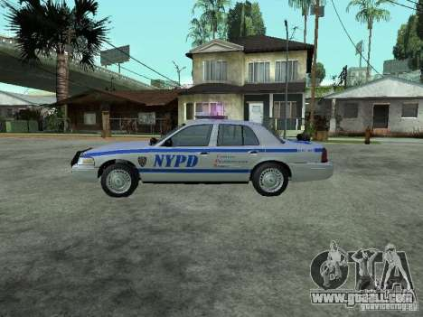 Ford Crown Victoria NYPD for GTA San Andreas left view