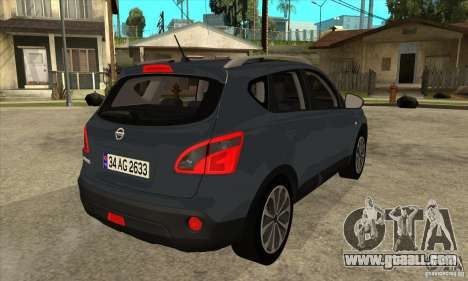 Nissan Qashqai 2011 for GTA San Andreas right view