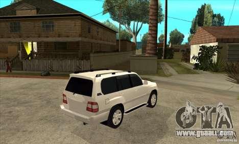 Toyota Land Cruiser 100vx v2.1 for GTA San Andreas back view