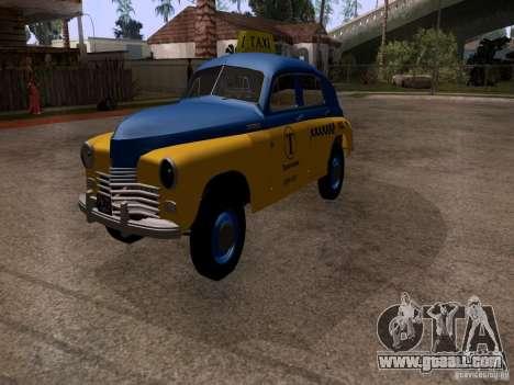 GAZ M20 Pobeda Taxi for GTA San Andreas right view
