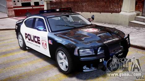 Dodge Charger NYPD Police v1.3 for GTA 4 upper view