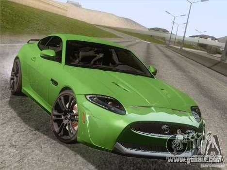 Jaguar XKR-S 2011 V2.0 for GTA San Andreas wheels