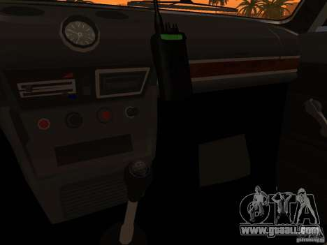 VAZ 2106 Police v 2.0 for GTA San Andreas interior