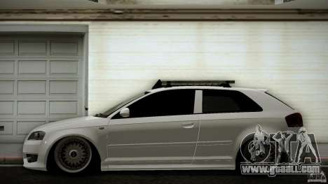 Audi S3 Euro for GTA San Andreas left view