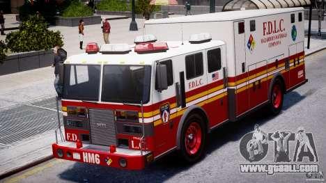 LCFD Hazmat Truck v1.3 for GTA 4 back view