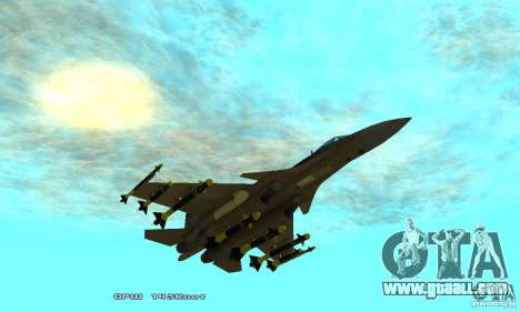 Su-37 Terminator for GTA San Andreas bottom view