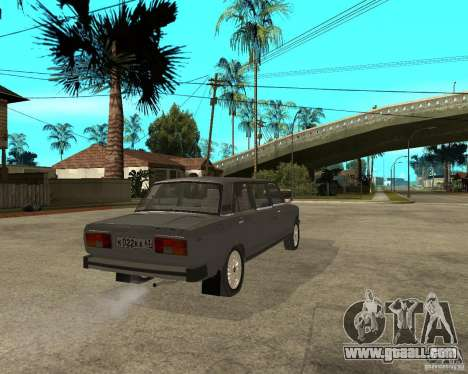 VAZ 2105 Limousine for GTA San Andreas back left view