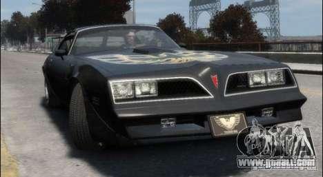 Pontiac Trans Am 1977 for GTA 4 left view