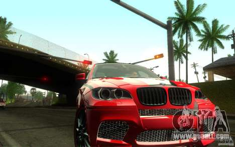 Bmw X6 M Lumma Tuning for GTA San Andreas back view