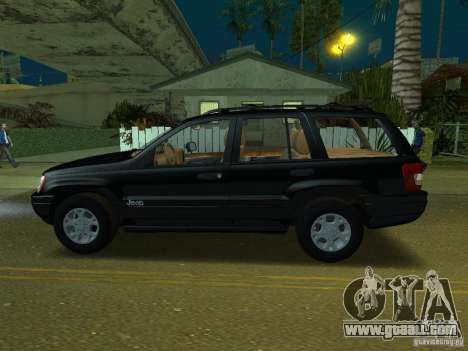 Jeep Grand Cherokee for GTA San Andreas left view