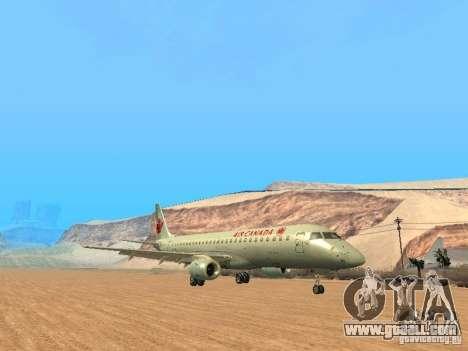 Embraer ERJ 190 Air Canada for GTA San Andreas back left view