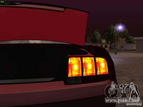 Ford Mustang GT 2005 Tuned for GTA San Andreas interior