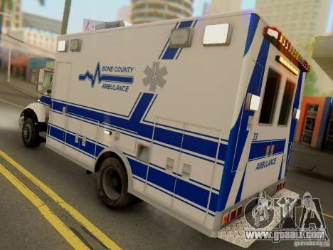 Freightliner Bone County Police Fire Medical for GTA San Andreas right view
