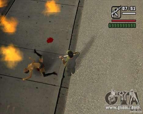 Real Ragdoll Mod Update 2011.09.15 for GTA San Andreas second screenshot