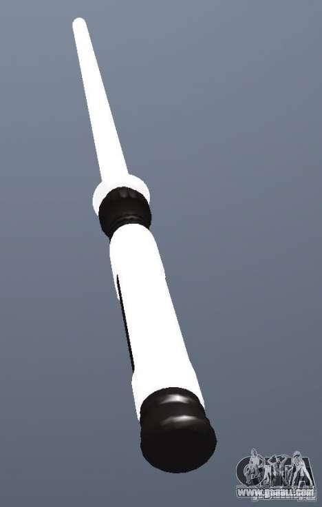 Lightsabre v2 White for GTA San Andreas second screenshot