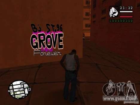 New graffiti gangs for GTA San Andreas seventh screenshot