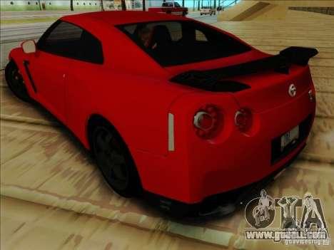 Nissan GTR Egoist 2011 for GTA San Andreas back view