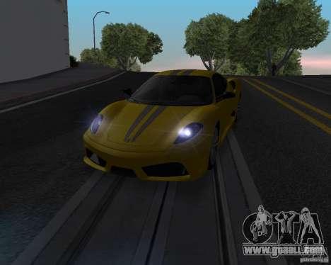 Ferrari F430 Scuderia 2007 for GTA San Andreas inner view