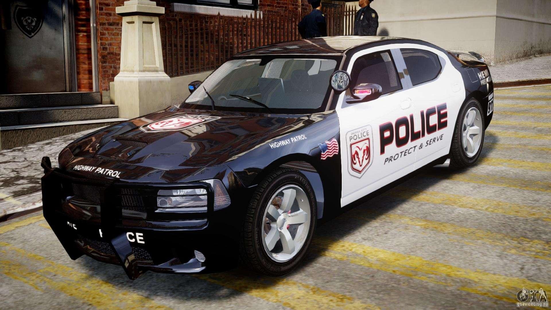 dodge charger nypd police v1 3 for gta 4. Black Bedroom Furniture Sets. Home Design Ideas