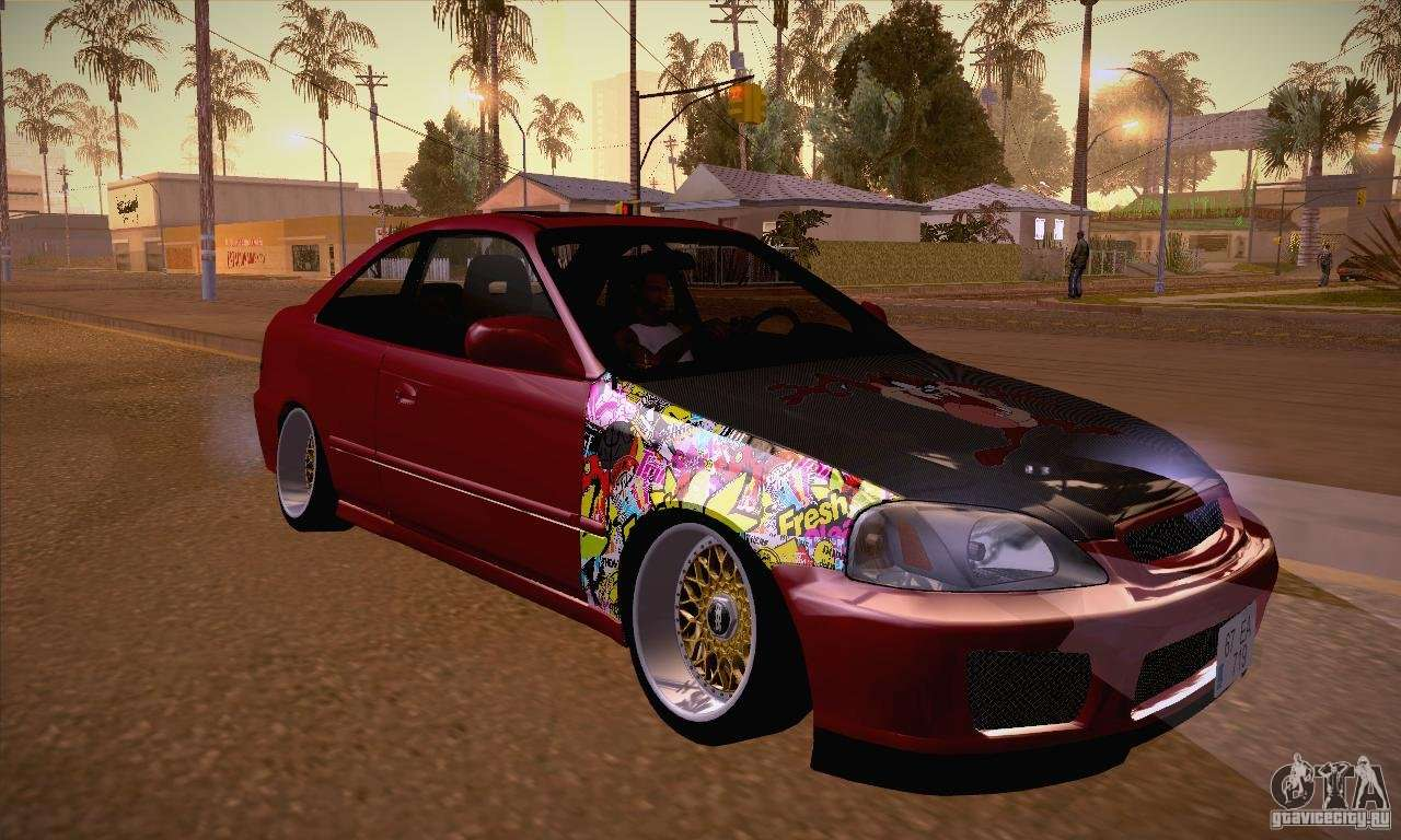 honda civic tuning 2012 for gta san andreas. Black Bedroom Furniture Sets. Home Design Ideas