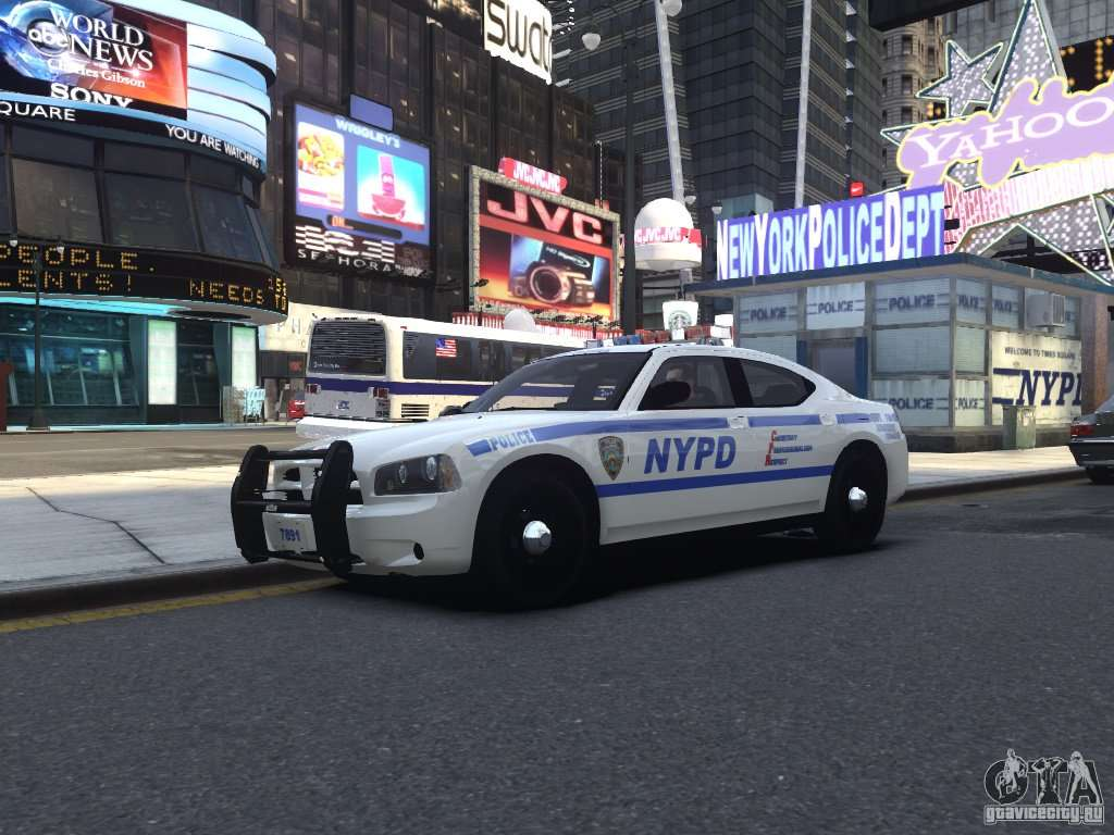Dodge Charger Police Car >> Dodge Charger NYPD for GTA 4