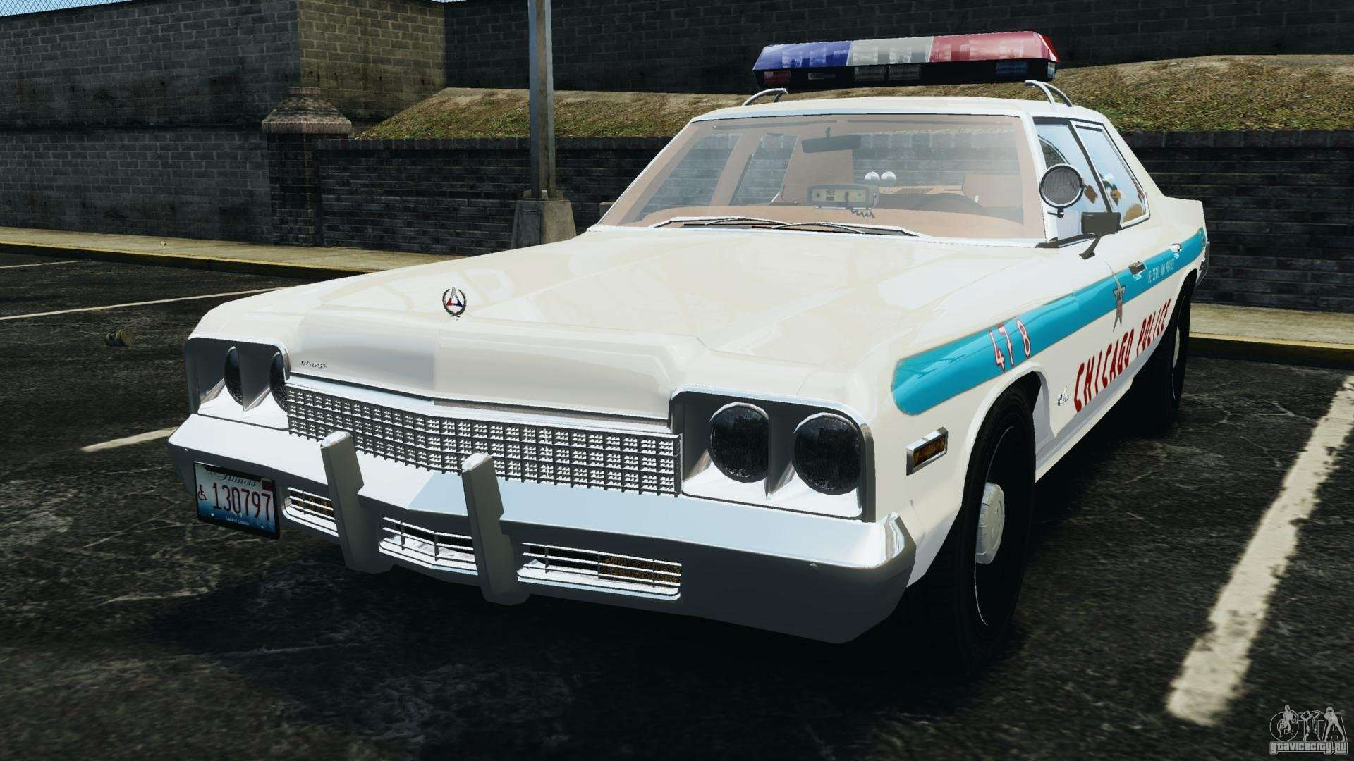 Dodge Monaco 1974 Police V1 0 Els For Gta 4