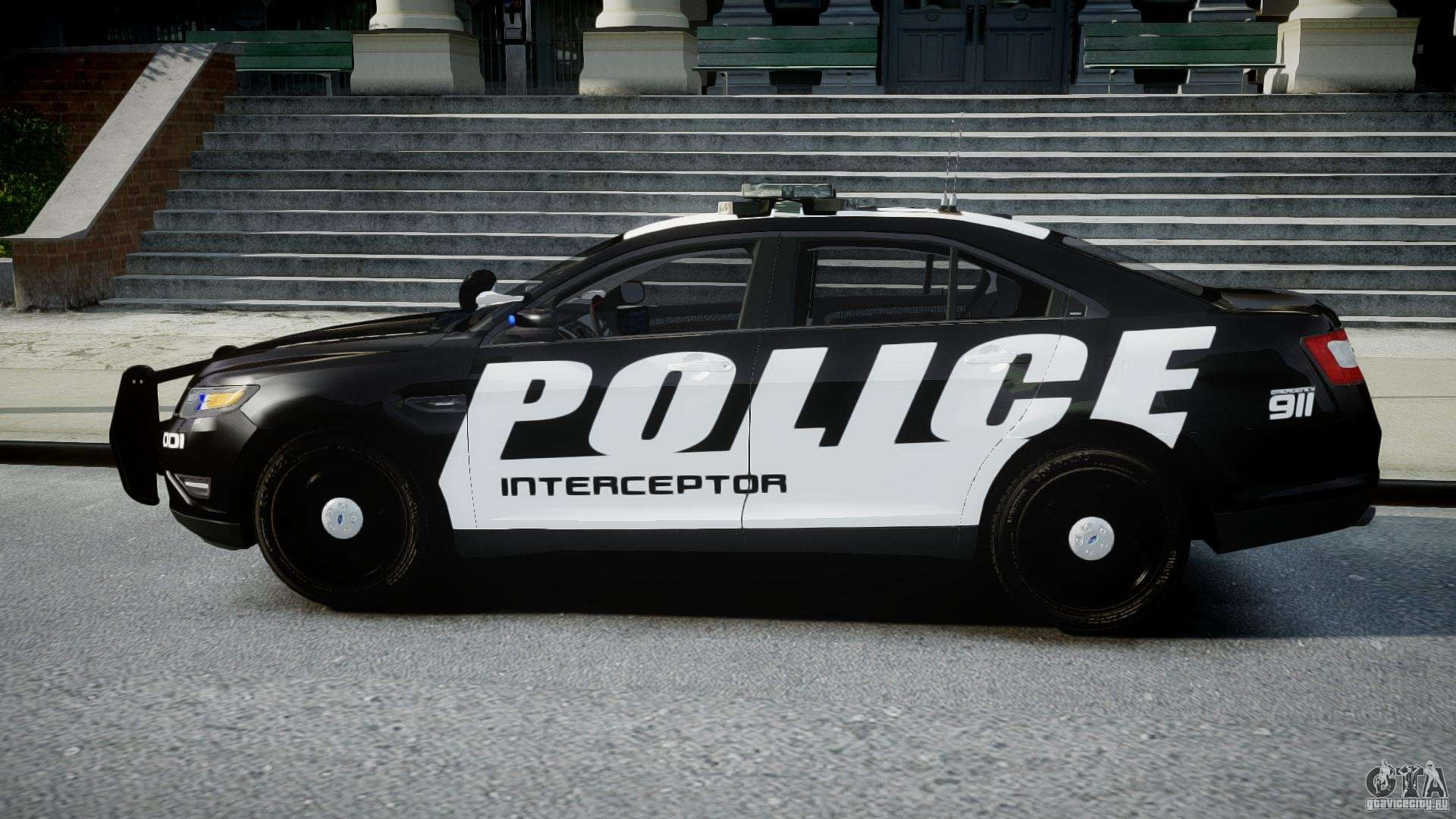 07 Ford Taurus >> Ford Taurus Police Interceptor 2011 [ELS] for GTA 4