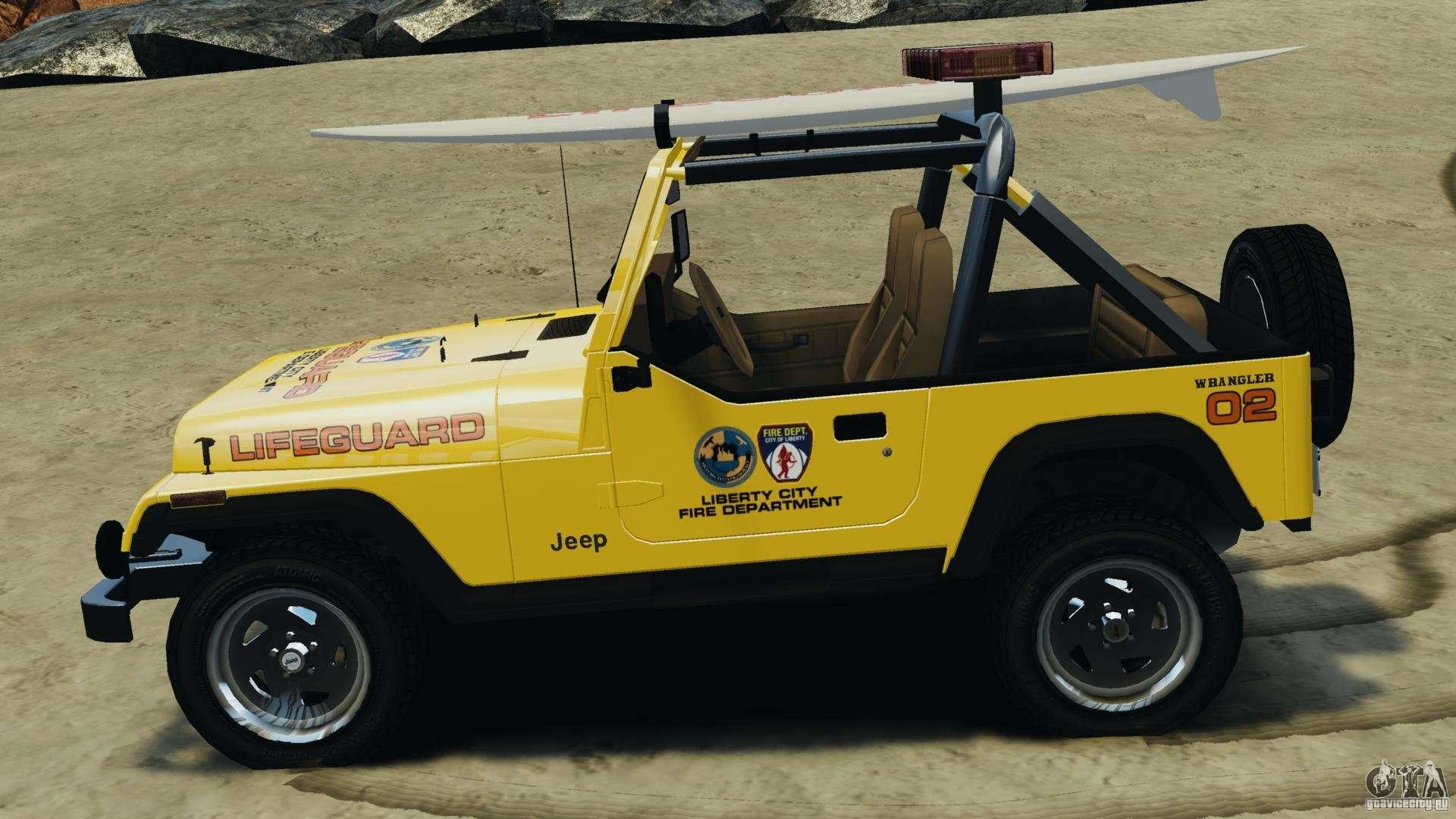 Jeep Wrangler 1988 Beach Patrol V1 1 Els For Gta 4