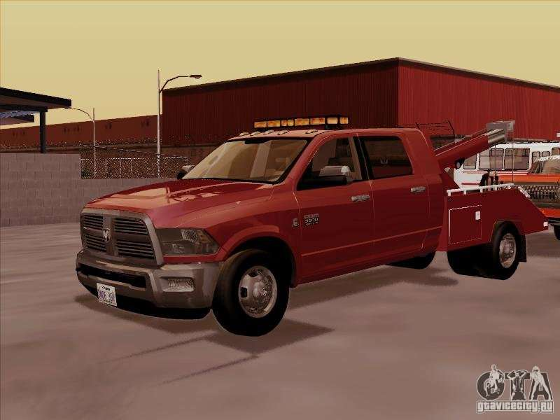 Dodge ram 3500 towtruck 2010 for gta san andreas