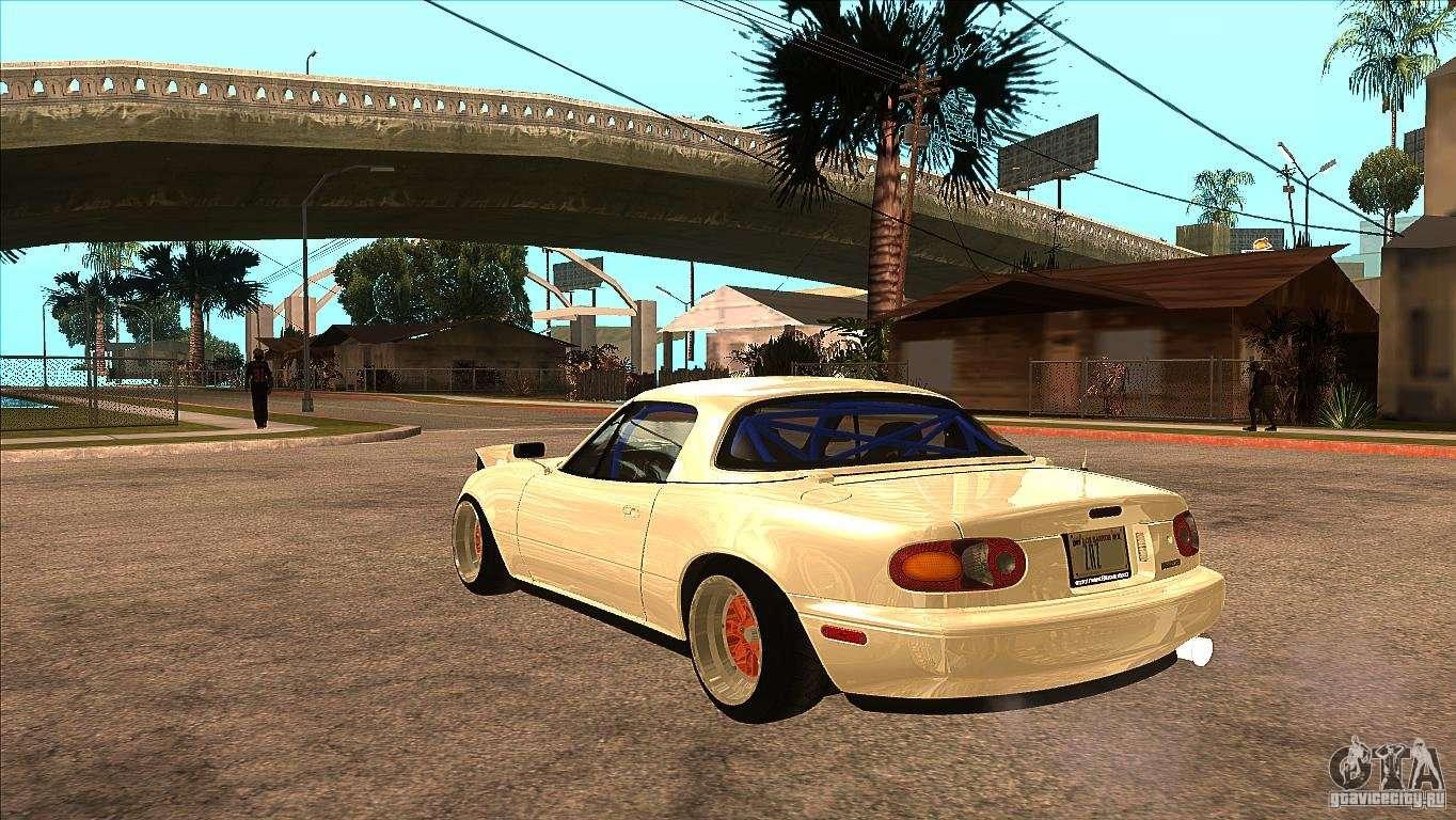 Mazda Miata JDM For GTA San Andreas Back Left View