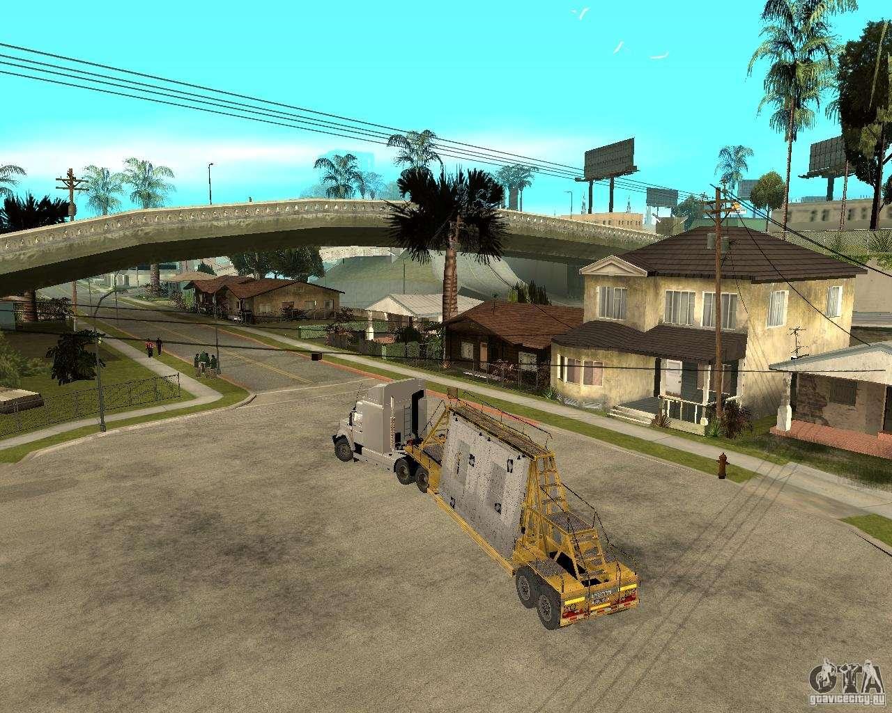 Патч прицепов v_1 для GTA San Andreas вид справа.