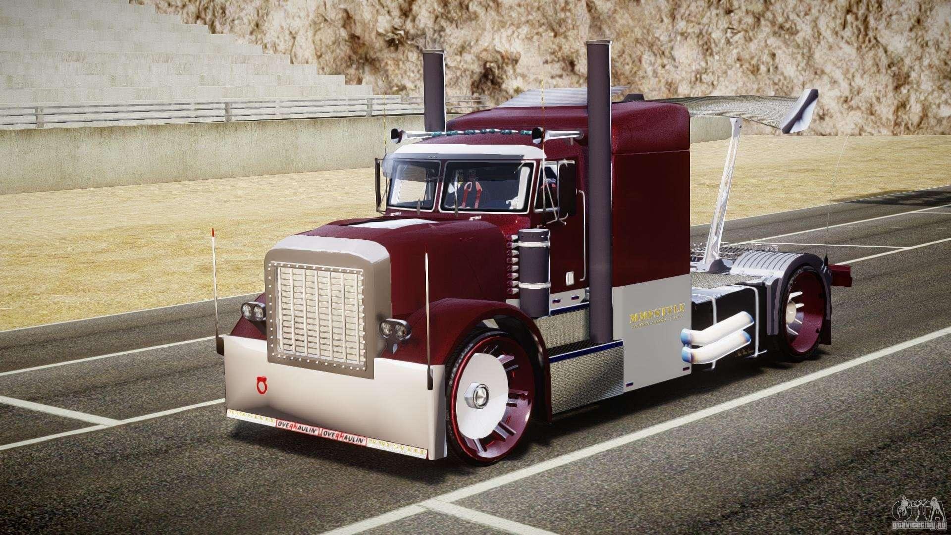 Inside Of A Semi Truck >> Peterbilt Sport Truck Custom for GTA 4