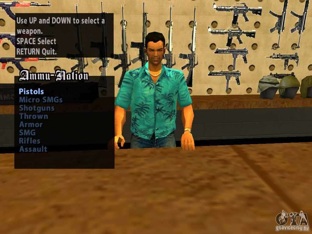 Tommy Vercetti In Ammu Nation For Gta San Andreas