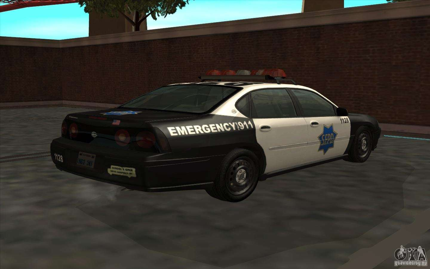 Chevrolet impala 2003 sfpd for gta san andreas left view