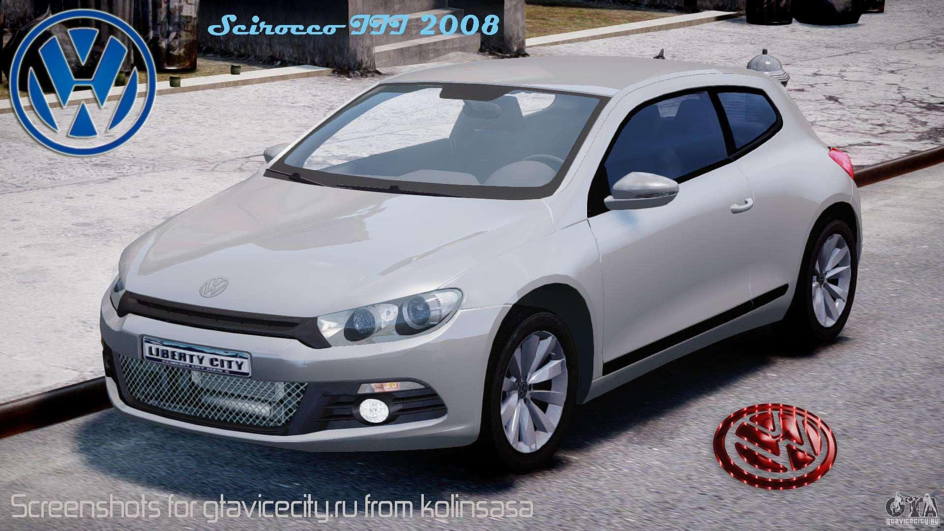 Volkswagen Scirocco Iii 2008 For Gta 4