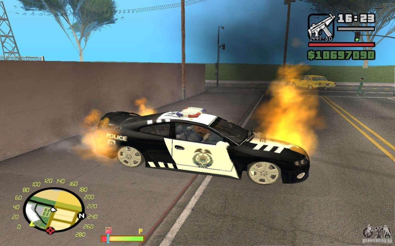 Burning Car In Gta 4 For Gta San Andreas