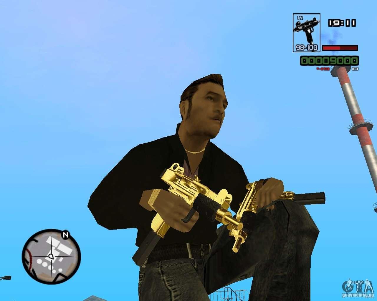 Micro Uzi Gold for GTA San Andreas