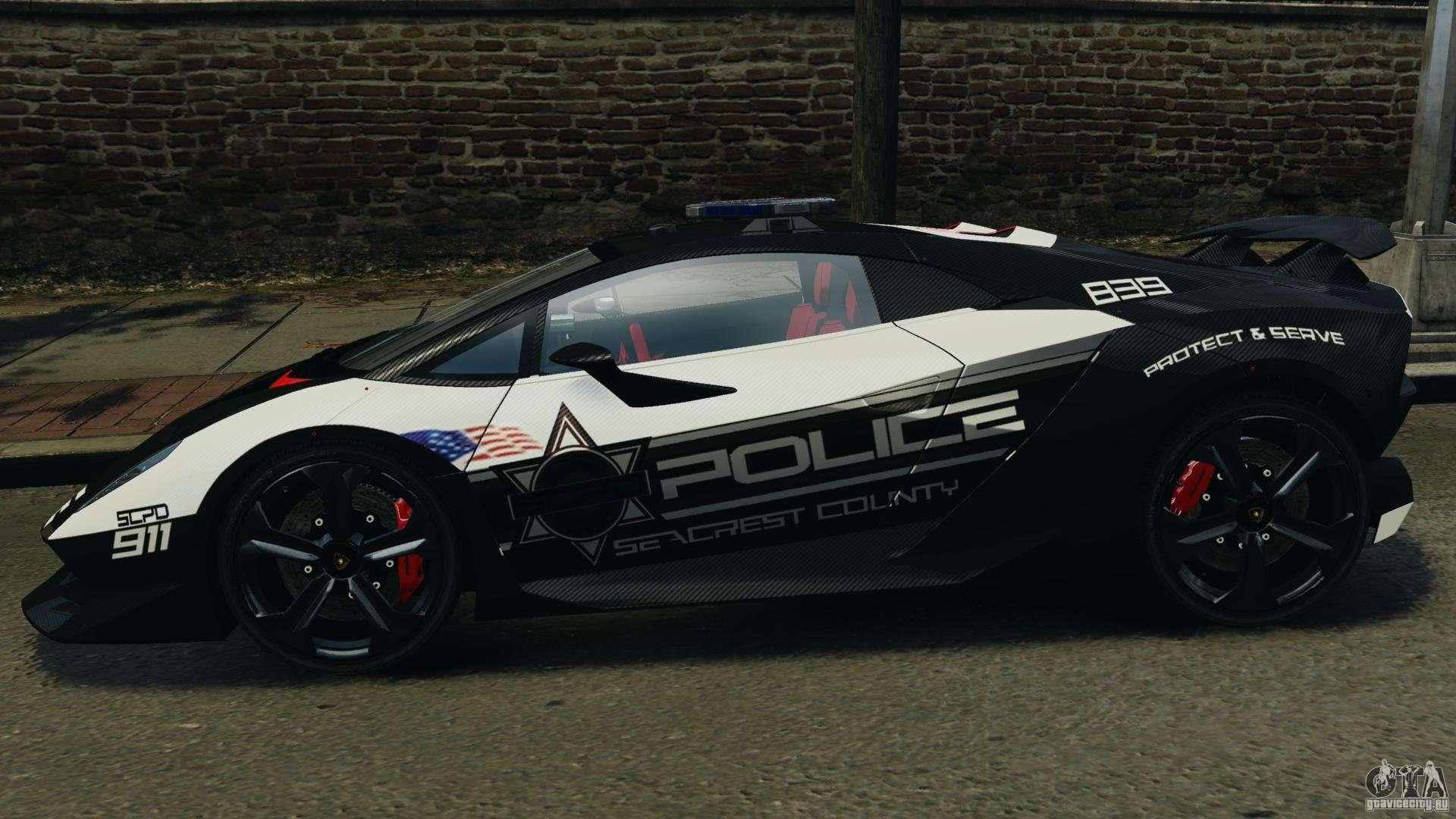 Lamborghini Sesto Elemento 2011 Police V1 0 Riv For Gta 4