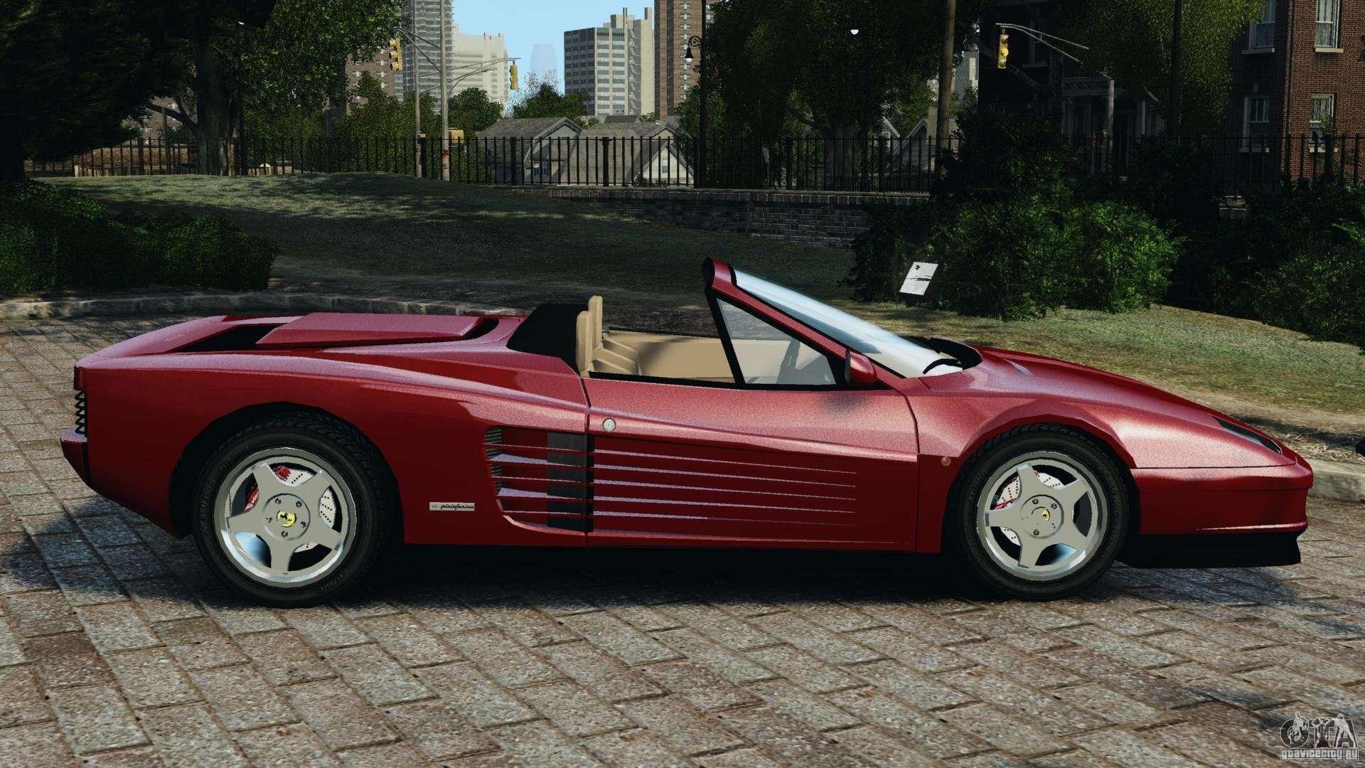 Ferrari Testarossa Spider Custom V1 0 For Gta 4